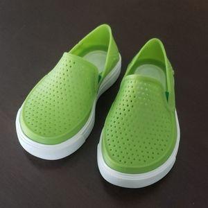 Lime green Crocs, like new